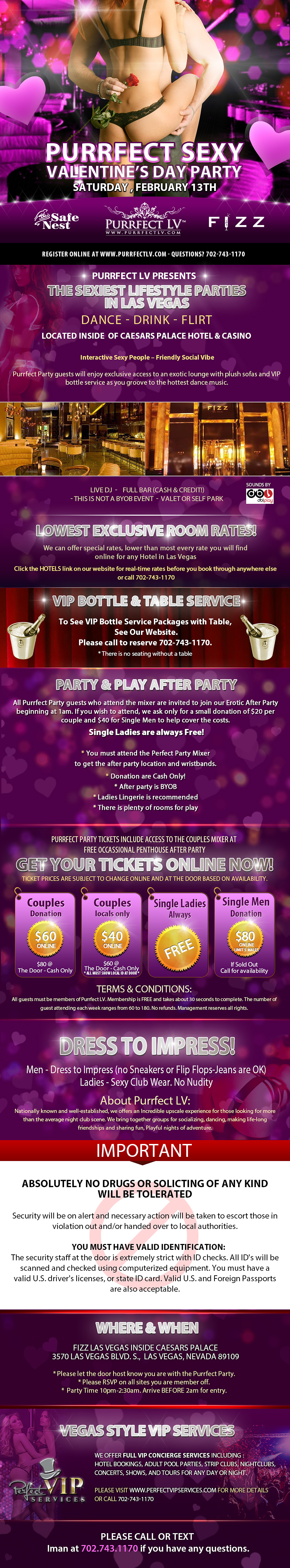 Las Vegas Swinger Valentine's Day Party Feb 2016